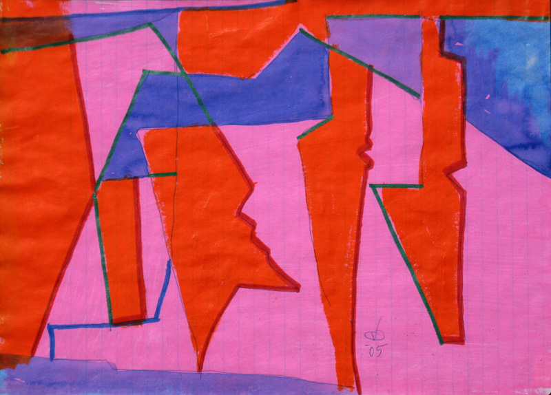 Try Angles  (abstracts, Acrylic) - Fine Art by Donald G. Vogl, Fort Collins, Colorado