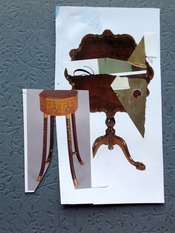 Turning the Tables  (collages, Collage) - Fine Art by Donald G. Vogl, Fort Collins, Colorado