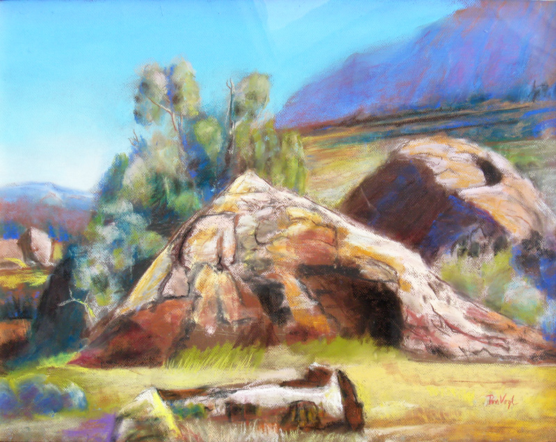 Formation Uncompahgre National Forest, Colorado (landscapes, Pastel) - Fine Art by Donald G. Vogl, Fort Collins, Colorado