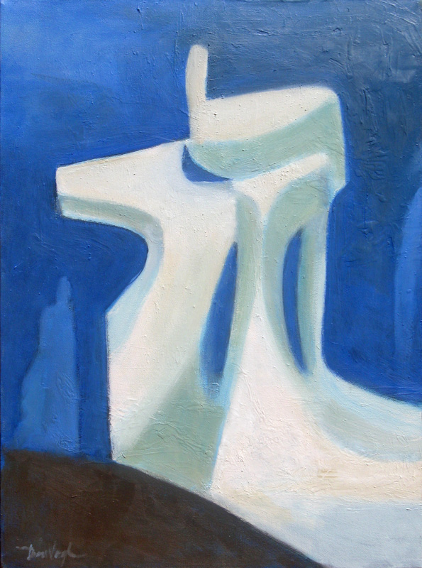 Vertical  (abstracts figures, Oil) - Fine Art by Donald G. Vogl, Fort Collins, Colorado