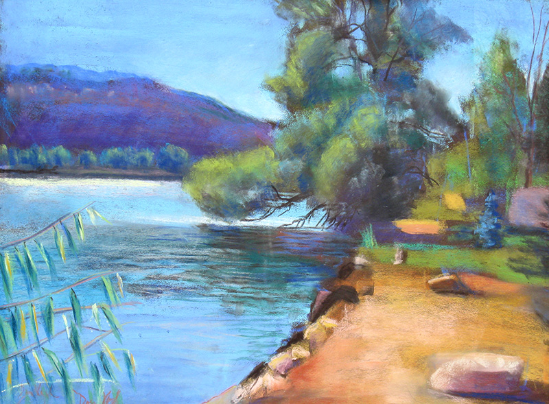 Watson Lake Watson Lake, Bellvue, Colorado (landscapes, Pastel) - Fine Art by Donald G. Vogl, Fort Collins, Colorado