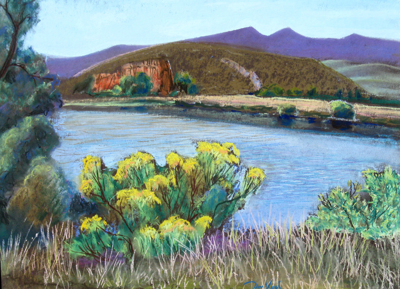 Spring at Watson Lake Watson Lake, Bellvue, Colorado (landscapes, Pastel) - Fine Art by Donald G. Vogl, Fort Collins, Colorado