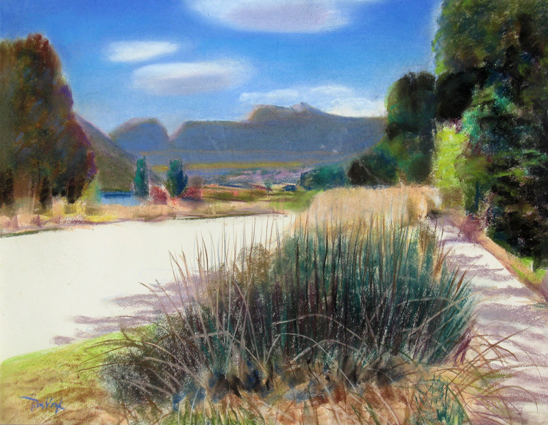 Open Vista Watson Lake, Bellvue, Colorado (landscapes, Pastel) - Fine Art by Donald G. Vogl, Fort Collins, Colorado