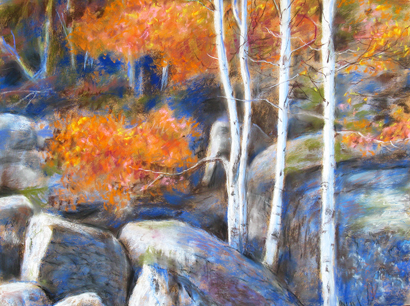 On the Way to Bear Lake Rocky Mountain National Park, Colorado (landscapes, Pastel) - Fine Art by Donald G. Vogl, Fort Collins, Colorado