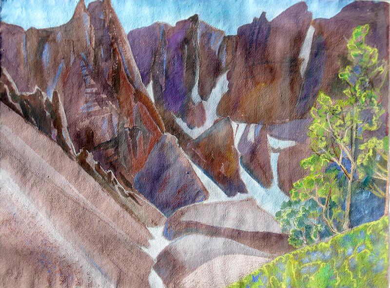 Wheeler Peak Wheeler Peak, Nevada (landscapes, Watercolor) - Fine Art by Donald G. Vogl, Fort Collins, Colorado