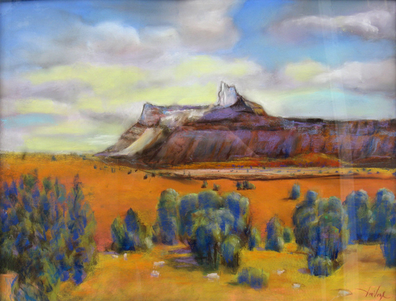 White Tower Goblin Valley State Park, Utah (landscapes, Pastel) - Fine Art by Donald G. Vogl, Fort Collins, Colorado
