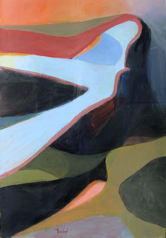 Wing Form  (abstracts, Acrylic) - Fine Art by Donald G. Vogl, Fort Collins, Colorado