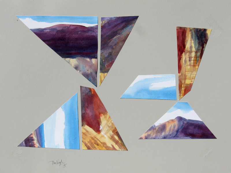 Wing It  (collages, Collage) - Fine Art by Donald G. Vogl, Fort Collins, Colorado