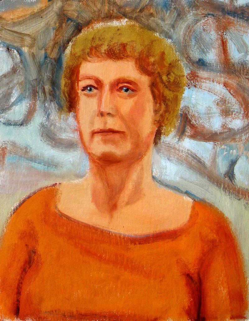 Woman (Orange)  (portraits, Oil) - Fine Art by Donald G. Vogl, Fort Collins, Colorado