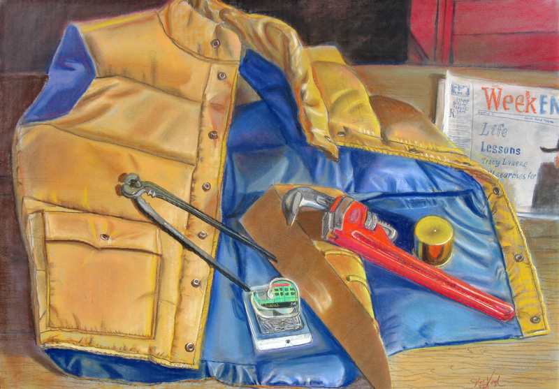 Work Bench  (still-lifes, Pastel) - Fine Art by Donald G. Vogl, Fort Collins, Colorado