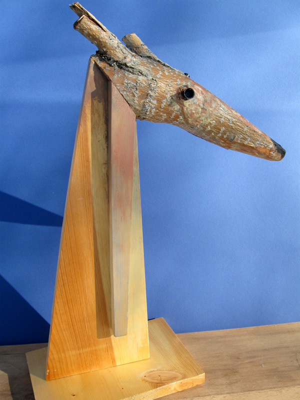 Young Antelope  (collages animals, Wood) - Fine Art by Donald G. Vogl, Fort Collins, Colorado