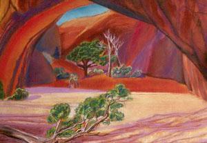 Grotto Arches National Park, Utah (landscapes, Pastel) - Fine Art by Donald G. Vogl, Fort Collins, Colorado