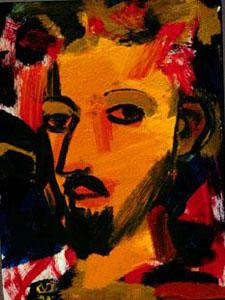 Head  (portraits christian, Oil) - Fine Art by Donald G. Vogl, Fort Collins, Colorado