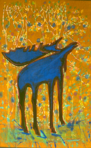 Autumn Moose (Acrylic, figures animals) - Fine Art by Donald G. Vogl, Fort Collins, Colorado