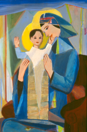 A Blessing (Acrylic, portraits christian) - Fine Art by Donald G. Vogl, Fort Collins, Colorado
