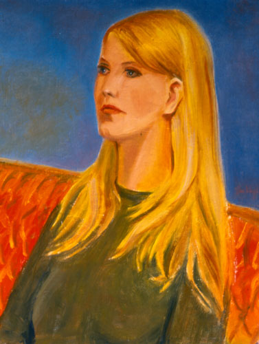 Blonde (Oil, portraits) - Fine Art by Donald G. Vogl, Fort Collins, Colorado