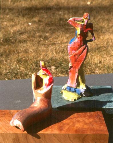 Carved Figure (Ceramic, ceramics) - Fine Art by Donald G. Vogl, Fort Collins, Colorado