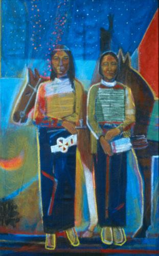 Cheyenne II (Acrylic, portraits) - Fine Art by Donald G. Vogl, Fort Collins, Colorado