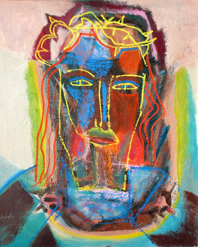 Christ Crowned (Oil, portraits christian) - Fine Art by Donald G. Vogl, Fort Collins, Colorado