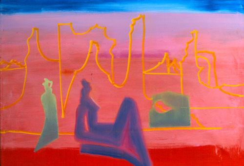 Desert Dream (Acrylic, figures) - Fine Art by Donald G. Vogl, Fort Collins, Colorado