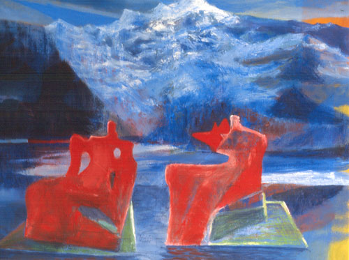 Fire and Ice (Oil, figures) - Fine Art by Donald G. Vogl, Fort Collins, Colorado