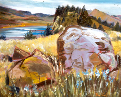 Frosting On the CakeHorsetooth Reservoir, Fort Collins, Colorado (Oil, landscapes) - Fine Art by Donald G. Vogl, Fort Collins, Colorado