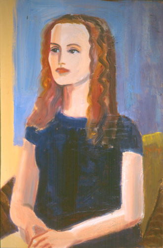 Girl with Curls (Oil, portraits) - Fine Art by Donald G. Vogl, Fort Collins, Colorado