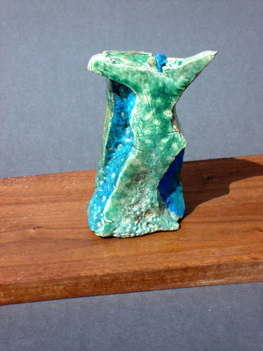 Greeting (Raku, ceramics) - Fine Art by Donald G. Vogl, Fort Collins, Colorado