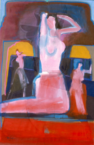 LS Dancers (Acrylic, abstracts figures nudes) - Fine Art by Donald G. Vogl, Fort Collins, Colorado