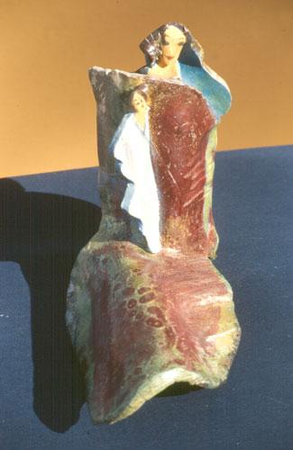 Madonna (Raku, ceramics christian) - Fine Art by Donald G. Vogl, Fort Collins, Colorado