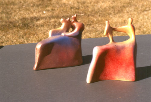 Maternal Figures (Raku, ceramics christian) - Fine Art by Donald G. Vogl, Fort Collins, Colorado