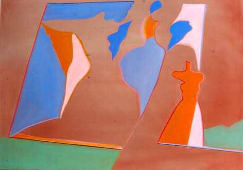 Millennium (Acrylic, abstracts figures) - Fine Art by Donald G. Vogl, Fort Collins, Colorado
