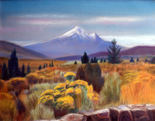 Mount ShastaCalifornia (Pastel, landscapes) - Fine Art by Donald G. Vogl, Fort Collins, Colorado