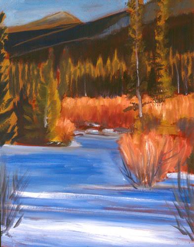 Nice ColorRocky Mountain National Park, Colorado (Oil, landscapes) - Fine Art by Donald G. Vogl, Fort Collins, Colorado