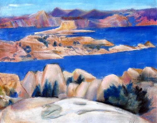 Near PrescottArizona (Pastel, landscapes) - Fine Art by Donald G. Vogl, Fort Collins, Colorado