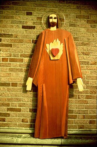 Sacred Heart (Wood, portraits christian) - Fine Art by Donald G. Vogl, Fort Collins, Colorado