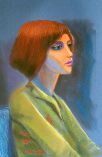 Sarah II (Pastel, portraits) - Fine Art by Donald G. Vogl, Fort Collins, Colorado