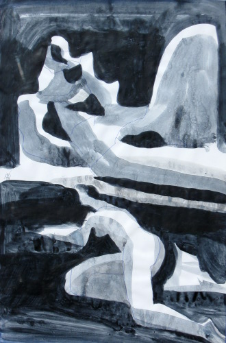 Sculpture with Figure (Acrylic, abstracts figures monochromes) - Fine Art by Donald G. Vogl, Fort Collins, Colorado