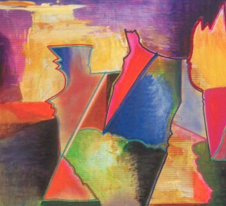 Passing the Torch (Acrylic on Canvas, abstracts) - Fine Art by Donald G. Vogl, Fort Collins, Colorado