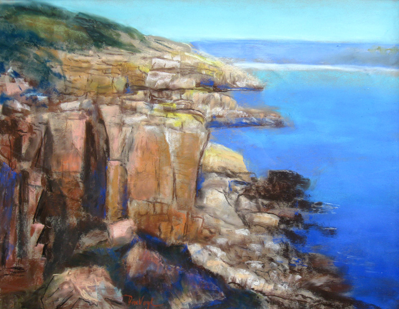 Acadian ShorelineMaine (Pastel, landscapes) - Fine Art by Donald G. Vogl, Fort Collins, Colorado