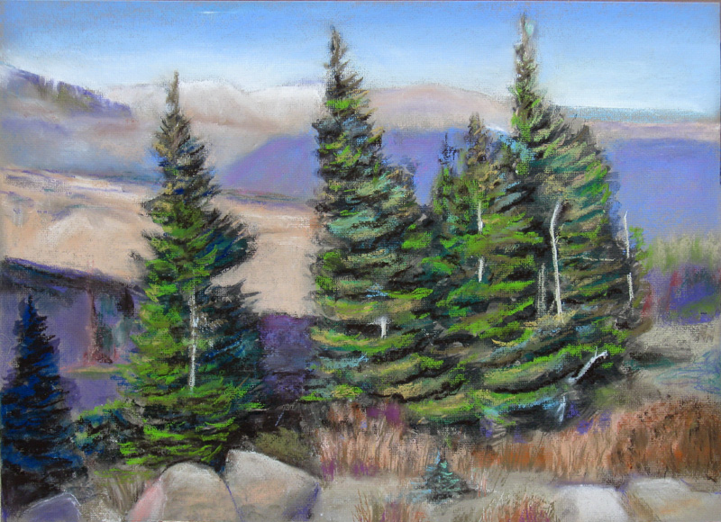 Beyond Rainbow CurveRocky Mountain National Park, Colorado (Pastel, landscapes) - Fine Art by Donald G. Vogl, Fort Collins, Colorado