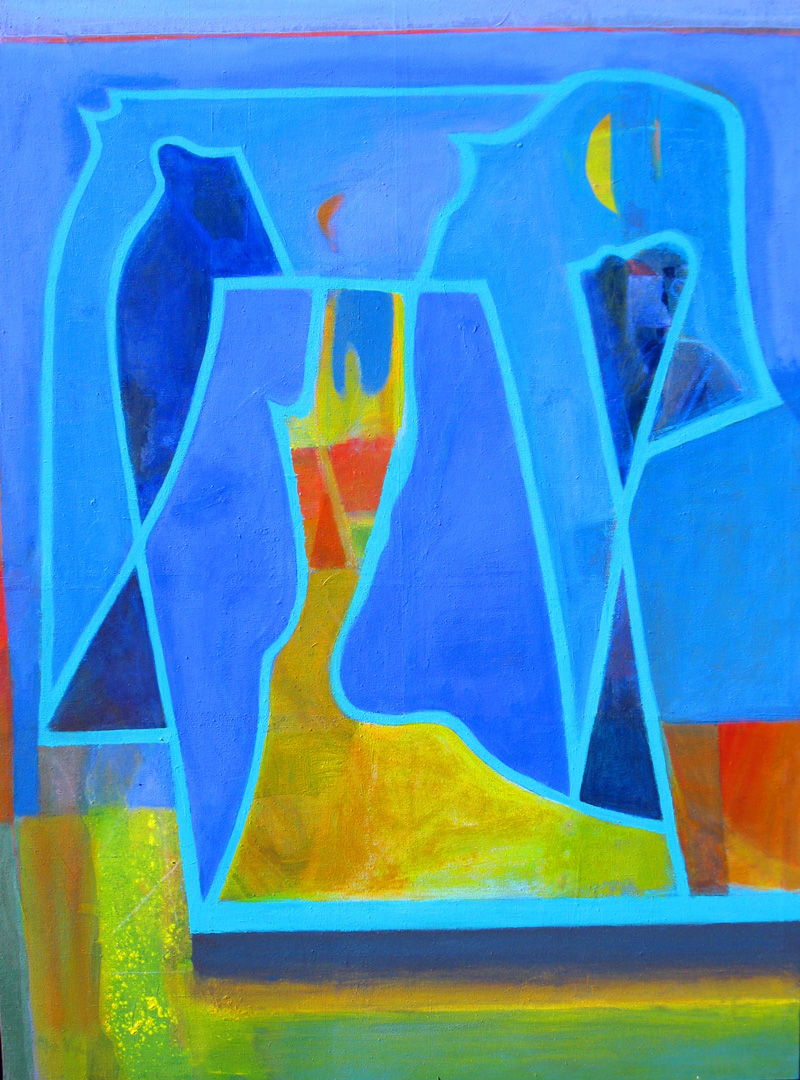 Blues (Acrylic, abstracts) - Fine Art by Donald G. Vogl, Fort Collins, Colorado