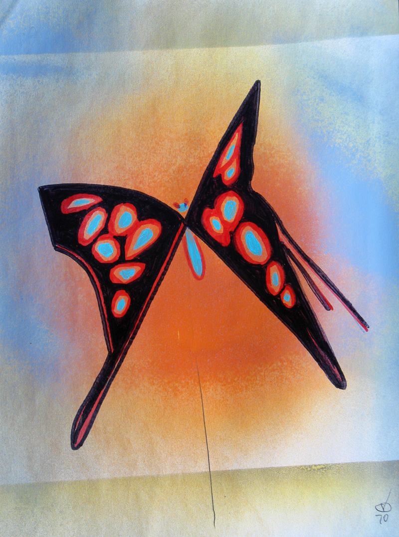 Butterfly (Acrylic, figures animals) - Fine Art by Donald G. Vogl, Fort Collins, Colorado