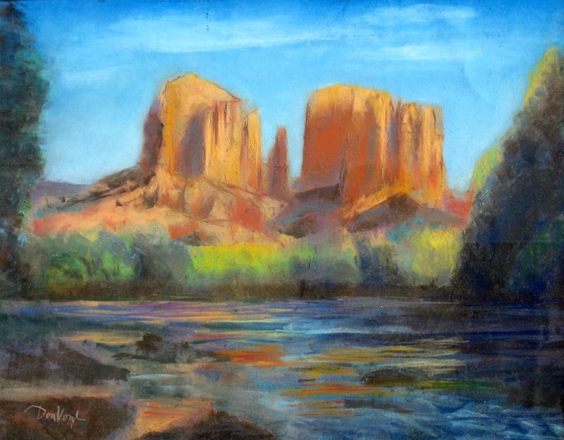 Cathedral RockArizona (Pastel, landscapes) - Fine Art by Donald G. Vogl, Fort Collins, Colorado