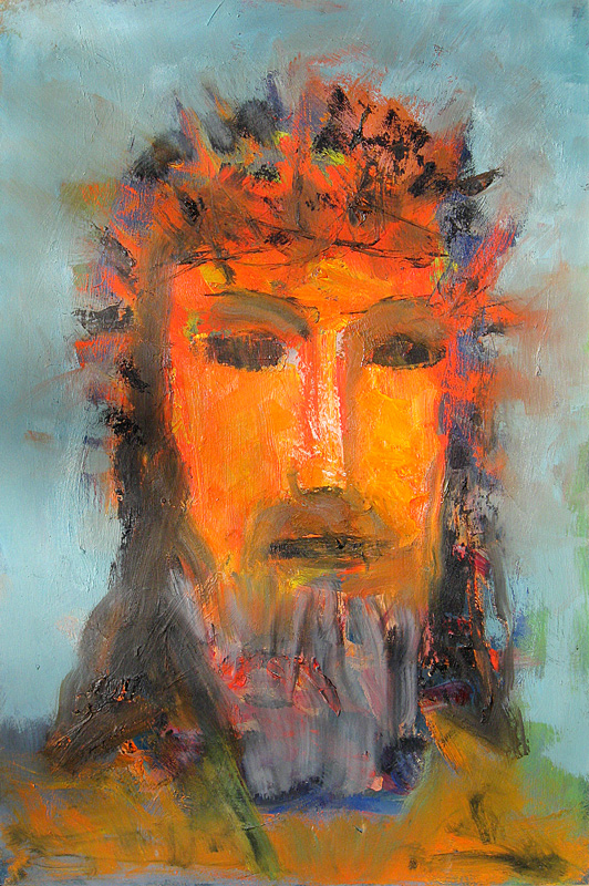 Christ Crowned (Oil, christian portraits) - Fine Art by Donald G. Vogl, Fort Collins, Colorado