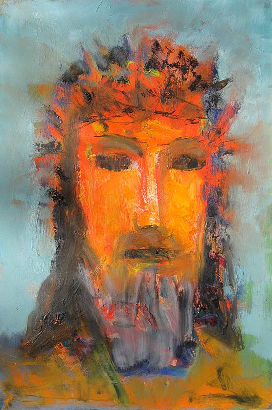Christ Crowned (Oil, christian portraits) - Fine Art by Donald G. Vogl, Fort Collins, Colorado