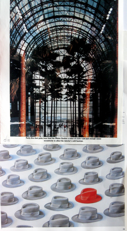 Cold Hauteur Warm Hat (Collage, collages) - Fine Art by Donald G. Vogl, Fort Collins, Colorado