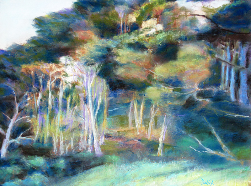 CypressPoint Lobos, Carmel, California (Pastel, landscapes) - Fine Art by Donald G. Vogl, Fort Collins, Colorado