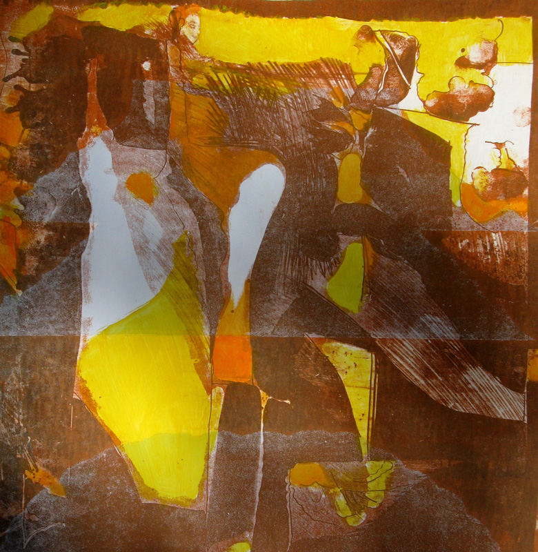 Deja Vu (Lithograph, abstracts lithographs) - Fine Art by Donald G. Vogl, Fort Collins, Colorado