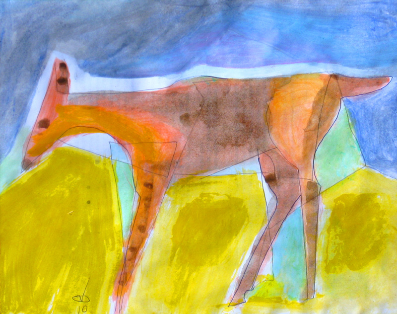 Doe (Acrylic, animals) - Fine Art by Donald G. Vogl, Fort Collins, Colorado